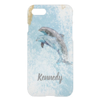 Dolphins Jumping In Water Art iPhone 8/7 Case