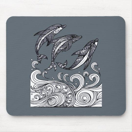 Dolphins Jumping Mouse Pad