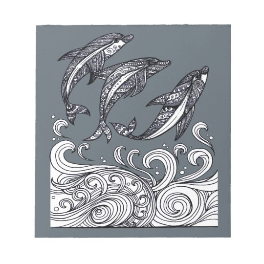 Dolphins Jumping Notepad