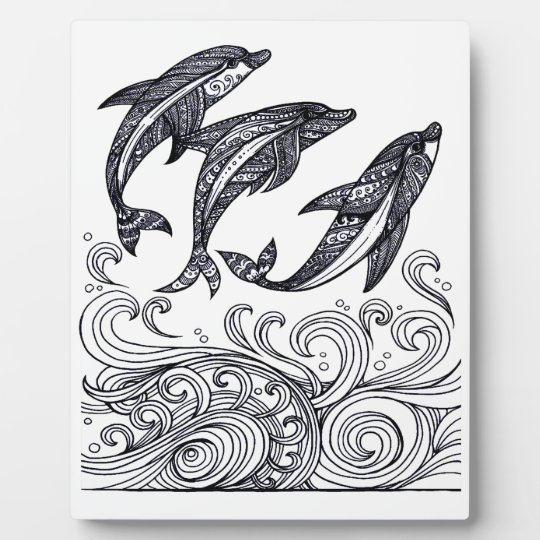 Dolphins Jumping Photo Plaques