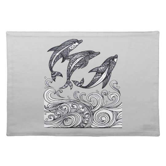Dolphins Jumping Place Mats