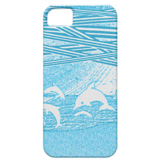 Dolphins Jumping Printed Case Case For The iPhone 5