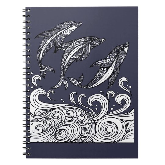 Dolphins Jumping Spiral Note Book