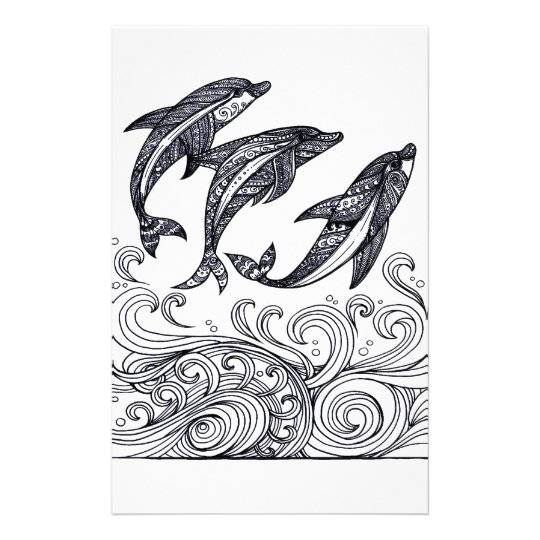 Dolphins Jumping Stationery