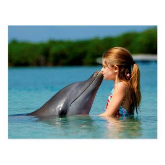 Dolphin's kiss postcard
