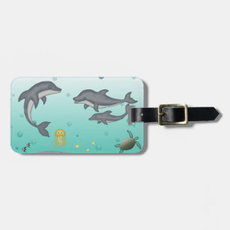 Dolphins Luggage Tag