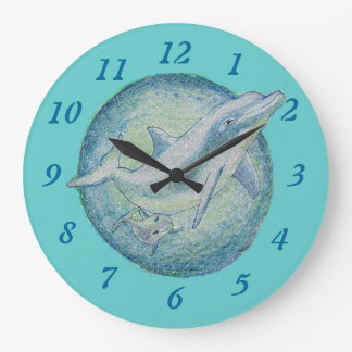 Dolphins 'Mother & Calf' Wall Clock