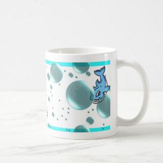 dolphins basic white mug