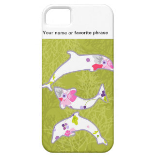 Dolphins on pastel green background. iPhone 5 covers