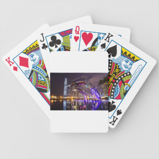 Dolphins on Urban Background Landscape Bicycle Playing Cards