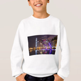 Dolphins on Urban Background Landscape Sweatshirt