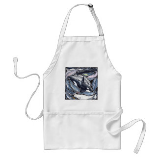 Dolphins, orcas, belugas and narvales standard apron