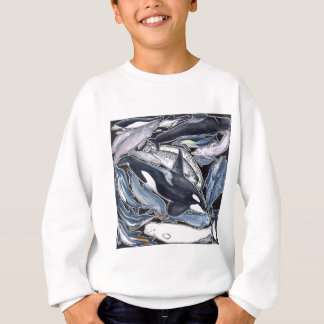 Dolphins, orcas, belugas and narvales sweatshirt