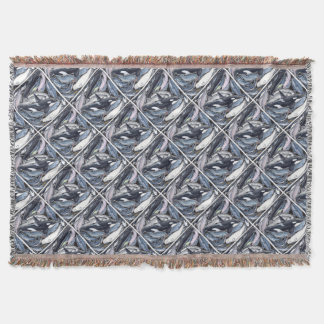 Dolphins, orcas, belugas and narvales throw blanket