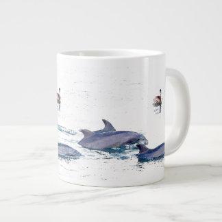Dolphins & Pelican Jumbo Mug