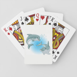 Dolphins Playing Cards
