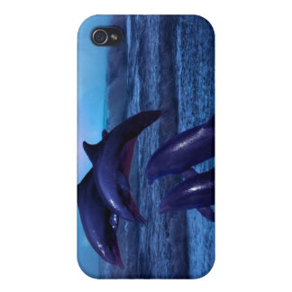 Dolphins playing in the ocean iPhone 4/4S cases