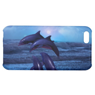 Dolphins playing in the ocean case for iPhone 5C