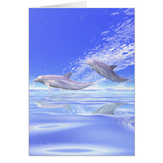 Dolphins Racing Greeting Card