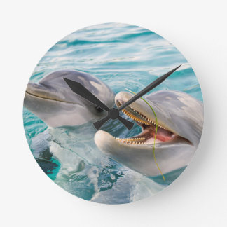 Dolphins Round Clock