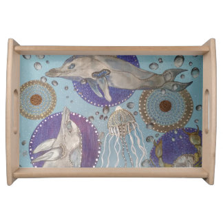 Dolphins Serving Tray
