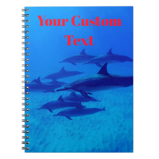 Dolphins Swimming In The Blue Sea Notebook