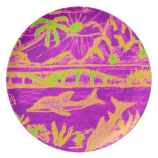 Dolphins Swimming Party Plate