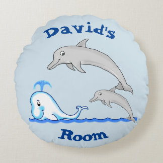 Dolphins & Whale Pillow