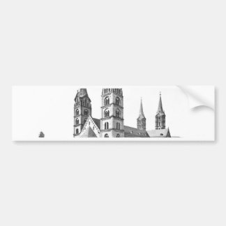 dom church bamberg cathedral 1880 germany bumper stickers