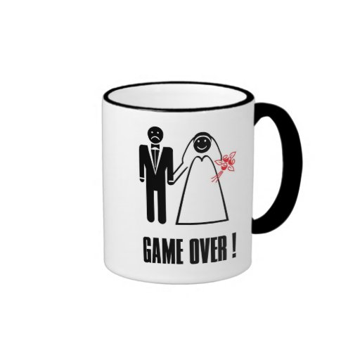Dom Foto Game Over! mug cup for Bride and Groom
