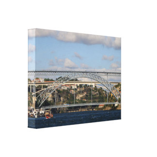 Dom Luis I Bridge, Porto, Portugal Canvas Print