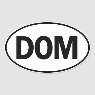 DOM Oval Identity Sign Oval Sticker