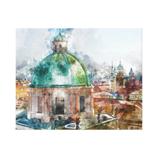 Dome in Prague Czech Republic Canvas Print