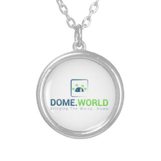 Dome Logo Silver Plated Necklace