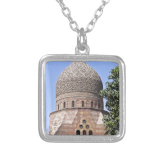 Dome of a mosque in Cairo Silver Plated Necklace