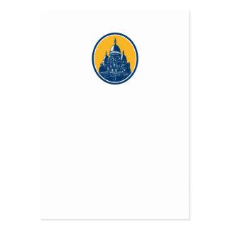 Dome of Sacre Coeur Basilica Paris Retro Business Cards