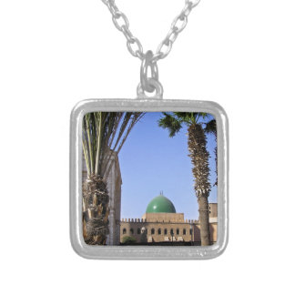 Dome of the Sultan Ali mosque in Cairo Silver Plated Necklace