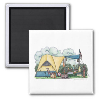 Dome Tent Camper Camping Magnets