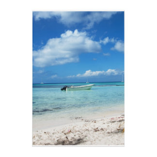 Domenicana beach acrylic print