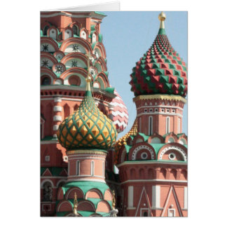 Domes of St Basil's Cathedral Card