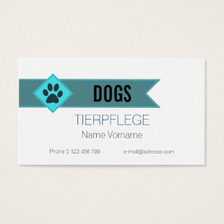 domestic animal-maintains business card