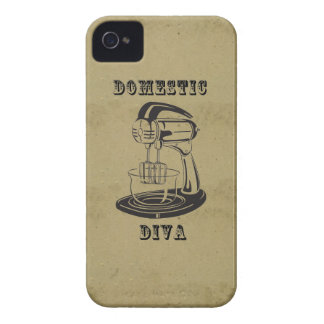 Domestic diva retro vintage kitschy funny print Case-Mate iPhone 4 case
