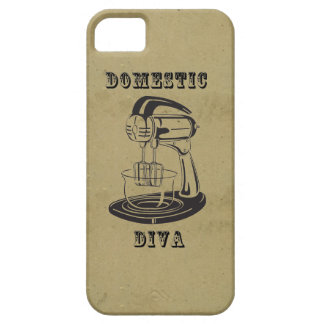 Domestic diva retro vintage kitschy funny print iPhone 5 covers