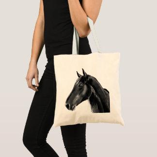 Domestic Equine Animal Horse Portrait Sketch Tote Bag