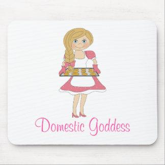 Domestic Goddess (blonde) Mousepad