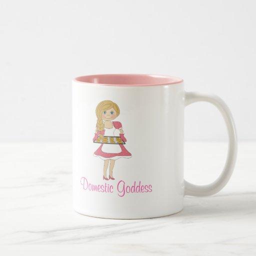 Domestic Goddess (blonde) Mugs