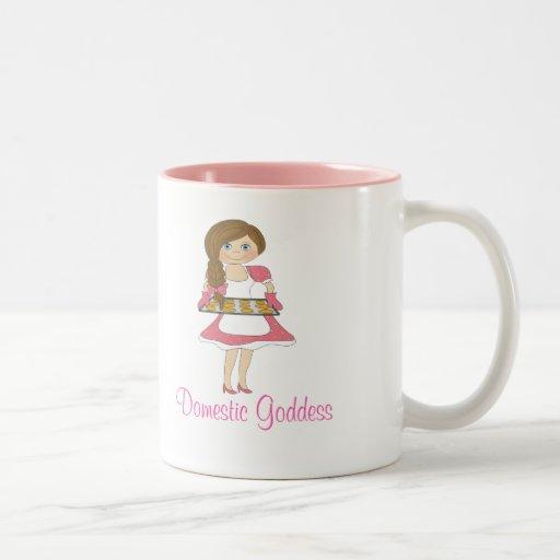 Domestic Goddess (brown hair) Mug