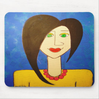 Domestic Goddess in Blue Mouse Mat