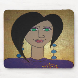 Domestic Goddess in Gold & Purple Mouse Mat