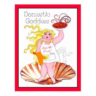 """""""Domestic Goddess"""" - Kiss the Cook! Postcard"""